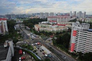 シンガポールのマンションからの眺め