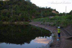 減水の足尾池