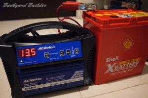 バッテリー充電中
